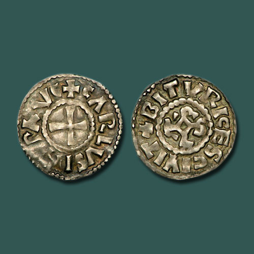 Silver-Denier-of-Charles-III-