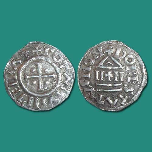 Silver-Dinar-issued-under-Lothar-I
