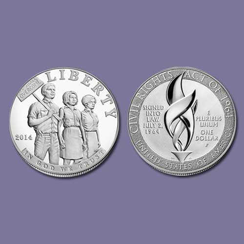 Silver-Dollar-on-Civil-Right-Act-of-1964-Silver-Dollar
