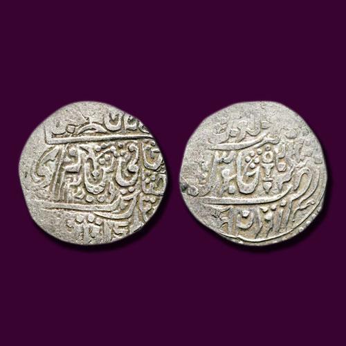 Silver-Double-Nazarana-Rupee-of-Vikramjit-Mahendra