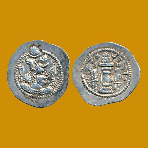 Silver-Drachm-of-Peroz-I-of-Sasanian-Empire