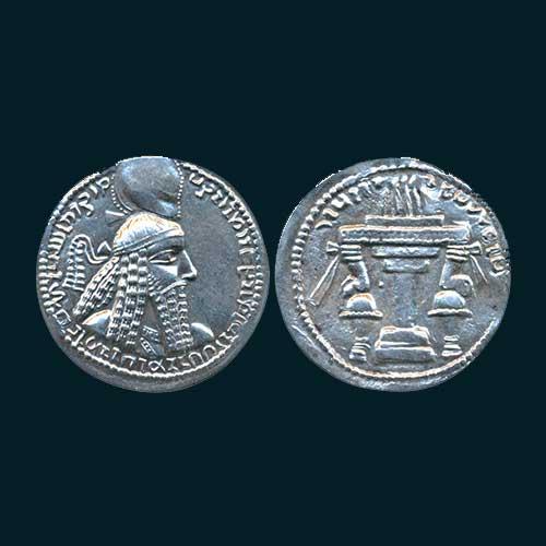 Silver-Drachm-of-Sasanian-King-Ardashir-