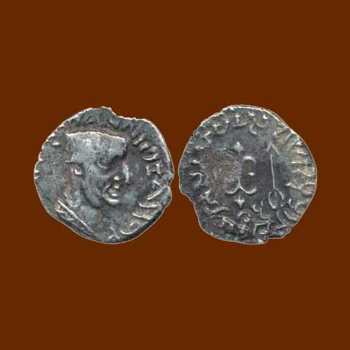 Silver-Drachm-on-Western-Kshatrapas-ruler-Nahapana