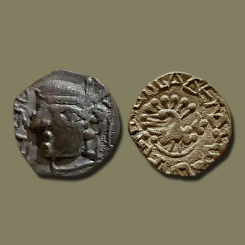 Silver-Drachma-of-Harshavardhana