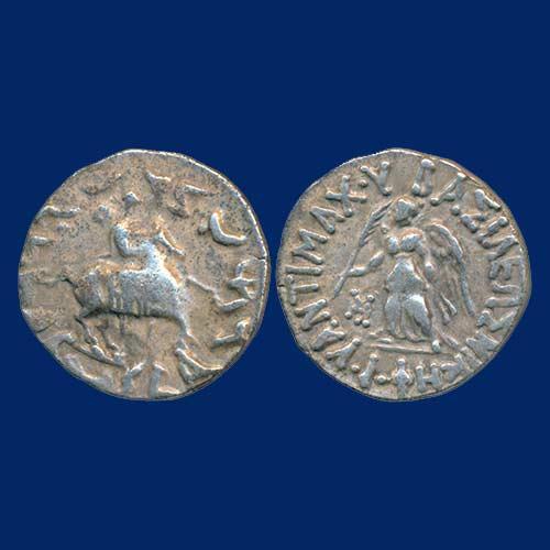 Silver-Drachma-of-Indo-Greek-King-Antimachus-II