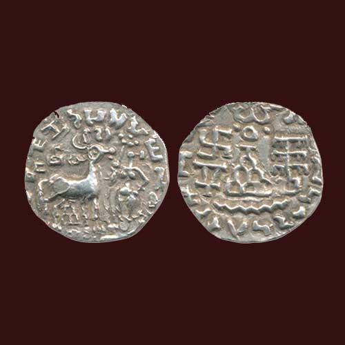 Silver-Drachma-of-Kuninda-King-Amoghabhuti
