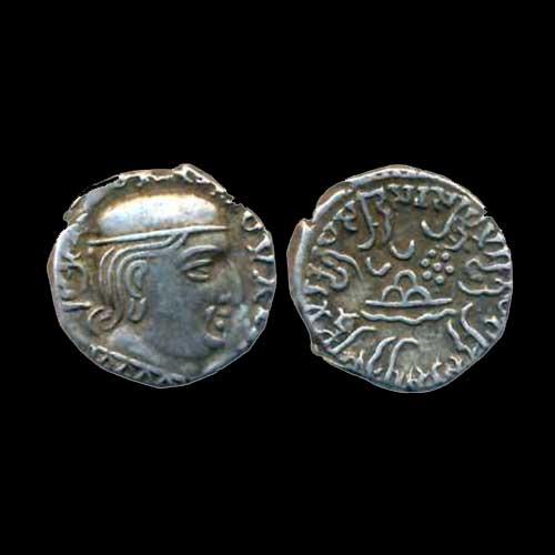 Silver-Drachma-of-Western-Kshatrapas-king-Rudrasena-I