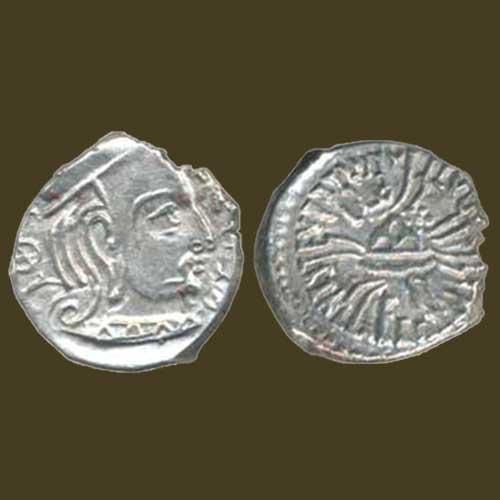 Silver-Drachma-of-Western-Kshatrapas-ruler-SvamiRudrasena-III