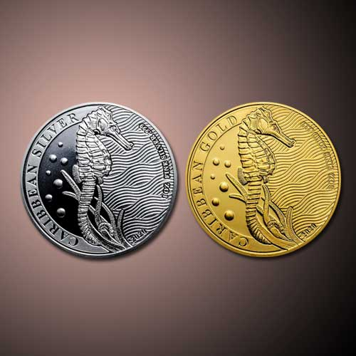 Silver,-Gold-Seahorse-Bullion-Coins-from-Barbados