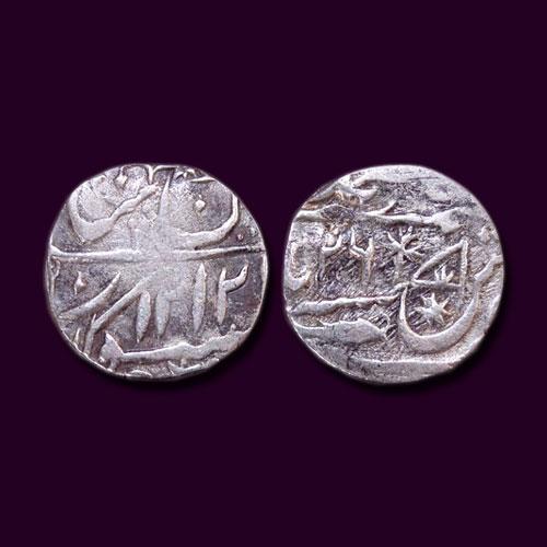 Silver-Half-Rupee-of-Nawab-Saadat-Ali-Khan-II-of-Awadh