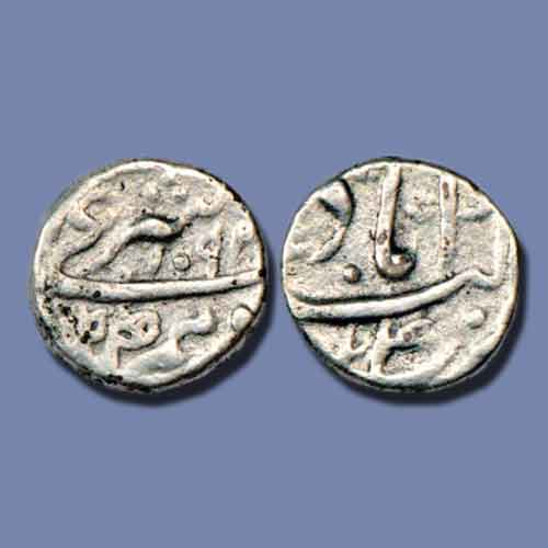 Silver-legal-Dirham-or-Dirham-Sharaai-of-Aurangzeb