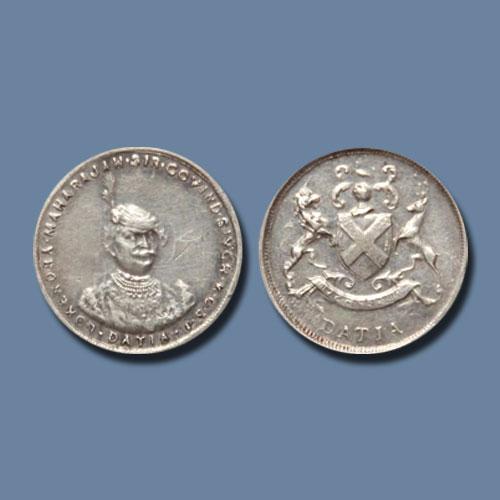 Silver-Nazarana-Mohur-of-Datia-State