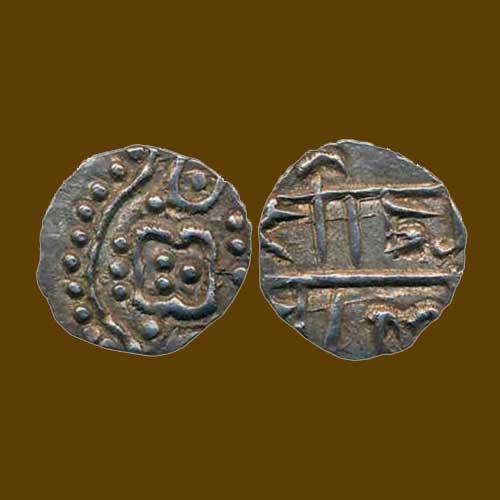 Silver-Pana-of-Kalachuris-of-Ratnapur