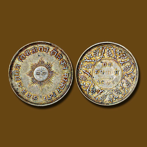 Silver-pattern-Rupee-of-Shivaji-Rao-sold-for-INR-4,40,000