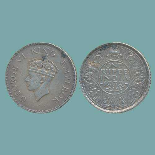 Silver-rupee-of-King-George-VI