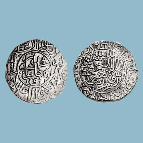 Silver-Rupee-of-Nasir-Al-Din-Muhammad-Humayun