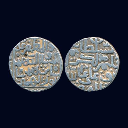 Silver-Tanka-of-Bahamani-Sultanate-ruler-Ahmad-Shah-II