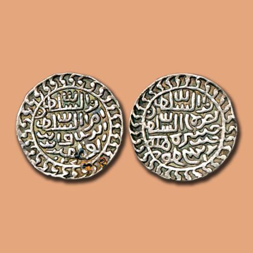 Silver-Tanka-of-Nasir-Al-Din-Nusrat-Shah