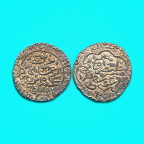 Silver-Tanka-of-Sikandar-Bin-Ilyas-of-Firuzabad-Mint