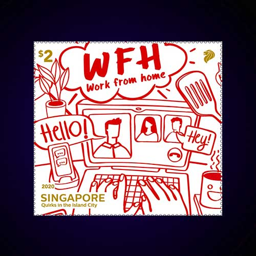 Singapore-Post's-WFH-Stamp