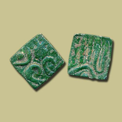 Square-Copper-Quarter-Paisa-of-Taj-Al-Din-Firuz-Shah