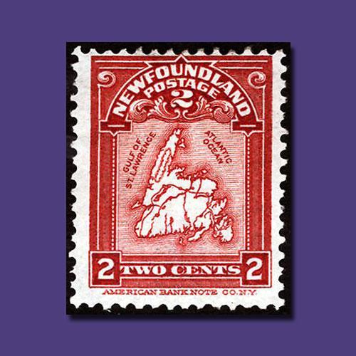 Stamp-Depicting-Newfoundland's-Map