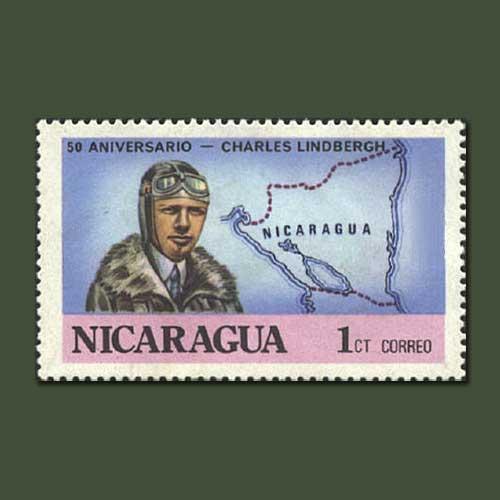 Stamp-honouring-Charles-Lindbergh