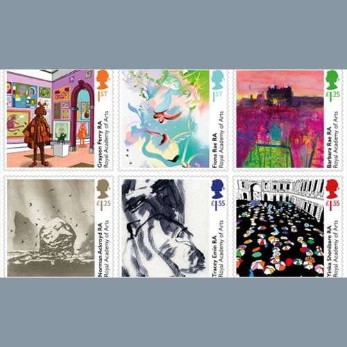 Stamp-marking-the-250th-anniversary-of-the-Royal-art-academy-