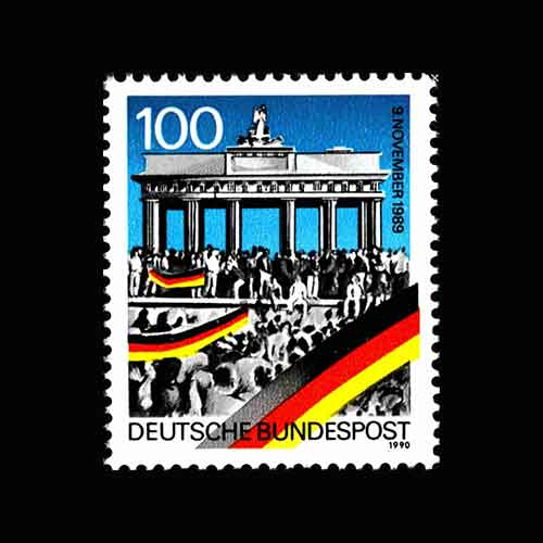 Stamp-on-Opening-of-Berlin-Wall