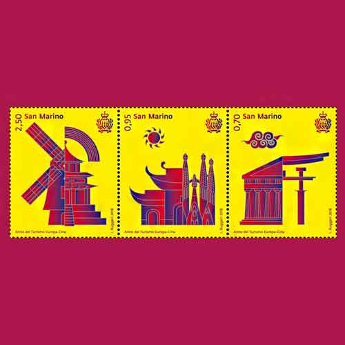 Stamps-dedicated-to-Europa-China-tourism