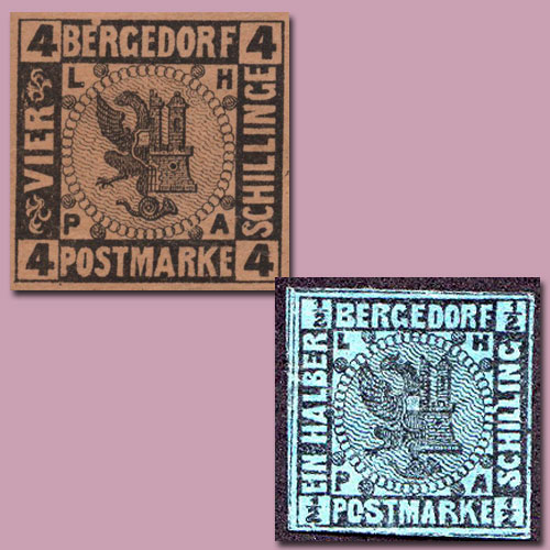 Stamps-of-the-German-State-of-Bergedorf