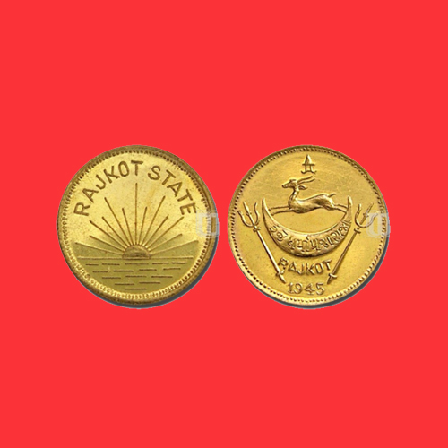 Sun-Rises-on-Rajkot-Princely-State-Gold-Coin