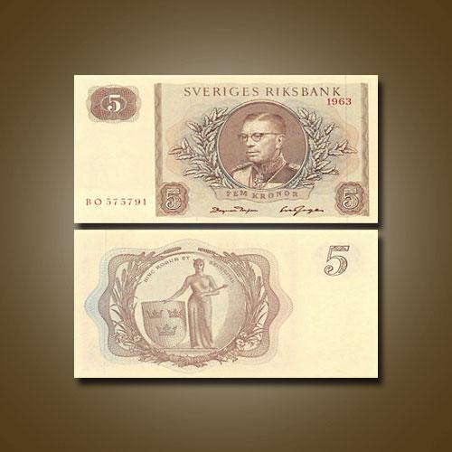 Sweden-5-Kronor-banknote-of-1963