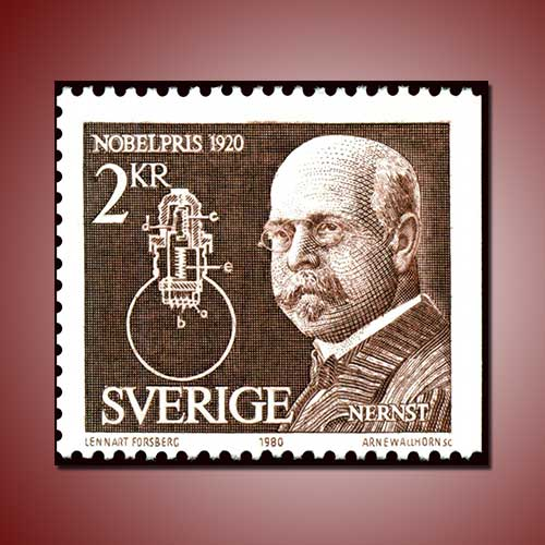 Sweden-stamp-featured-Portrait-of-Walther-Nerst