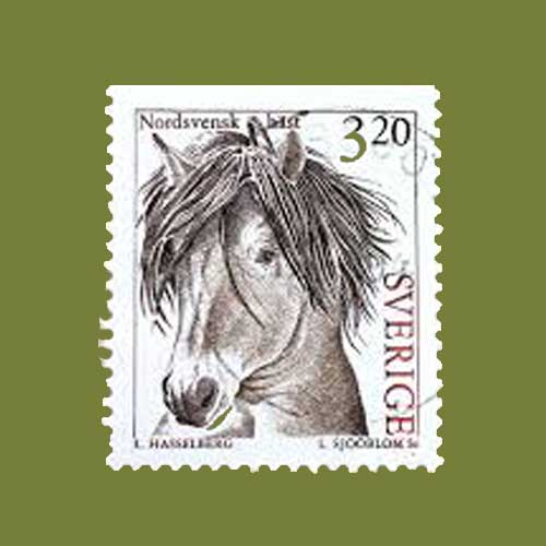 Swedish-horse-on-stamps