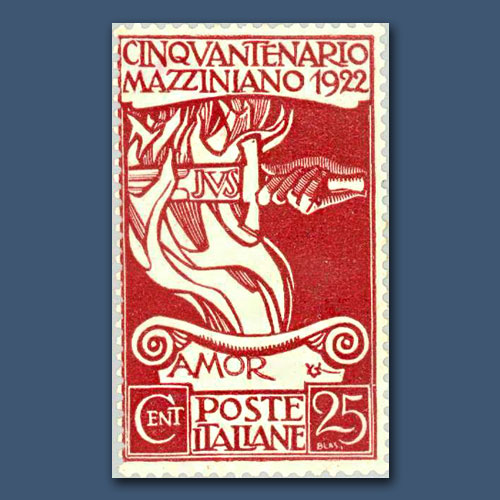 """Sword-of-Justice-Fire-of-Love""-Stamp-of-Italy"