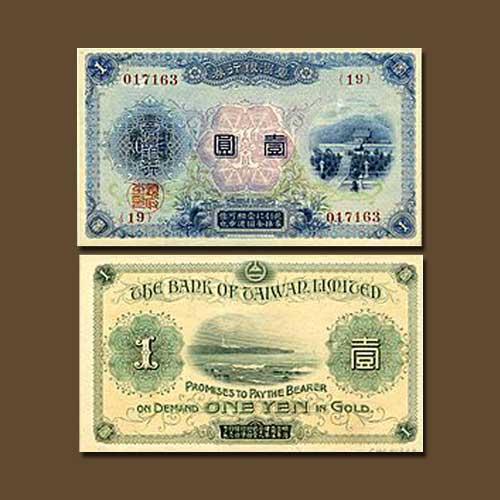 Taiwan-1-Yen-banknote-of-1915