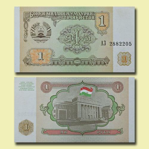 Tajikistan-1-Ruble-banknote
