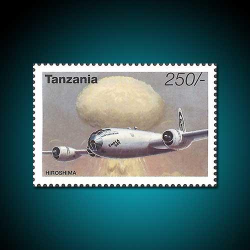 Tanzania's-Stamp-Featuring-Atomic-Bombing-over-Hiroshima-