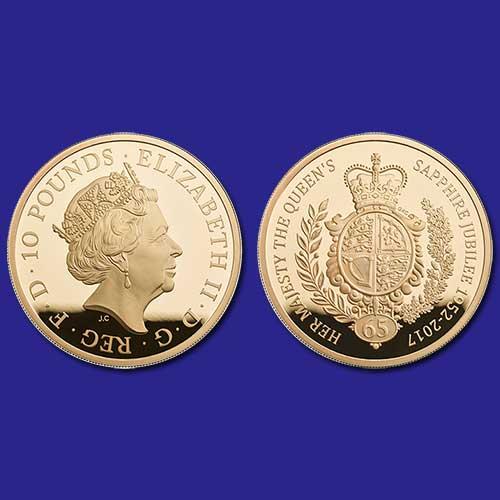 Ten-Pound-coin-of-United-Kingdom