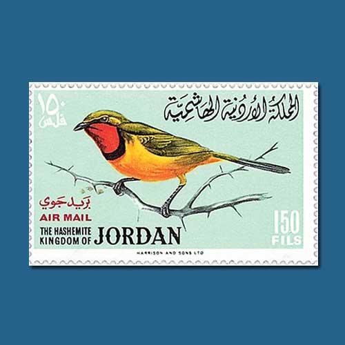 The-1964-Jordan-Birds-Airmail-Stamp