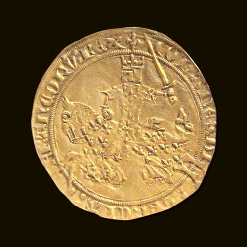 The-first-franc-ever-minted-during-the-reign-of-John-II-of-France