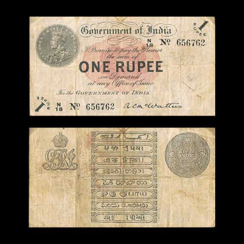 The-first-One-rupee-note-of-India