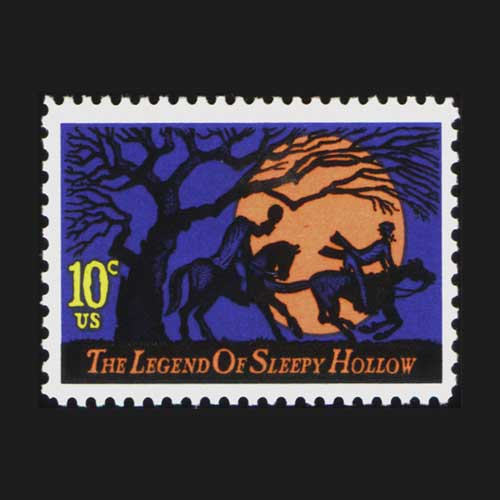 The-legend-of-the-Sleepy-Hollow-on-stamp