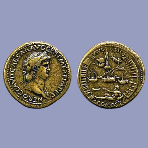 The-Nero-Port-of-Ostia-Sestertius