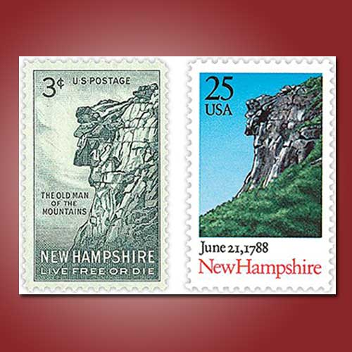 The-Old-Man-of-the-Mountain-on-New-Hampshire's-Stamps