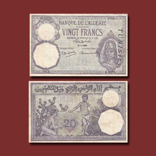 Tunisia-20-Francs-banknote-of-1914-1941
