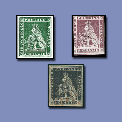 Tuscany-Lion-stamps