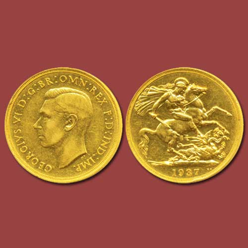 Two-Gold-Pound-of-King-George-VI