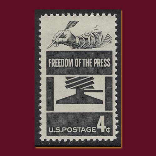 United-States-stamp-on-press-freedom-